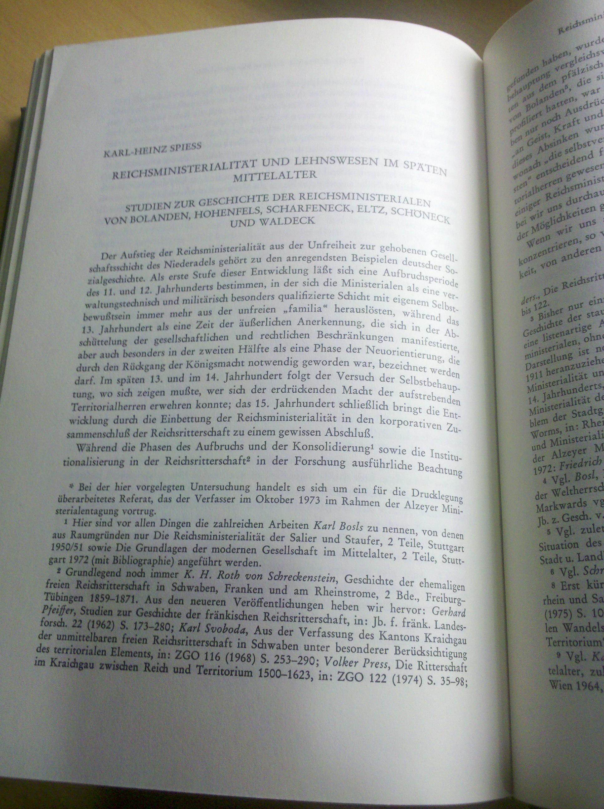 Neues Recherchematerial: Reichsministerialität und Lehnswesen im späten Mittelalter