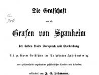 Die Grafschaft und die Grafen von Spanheim