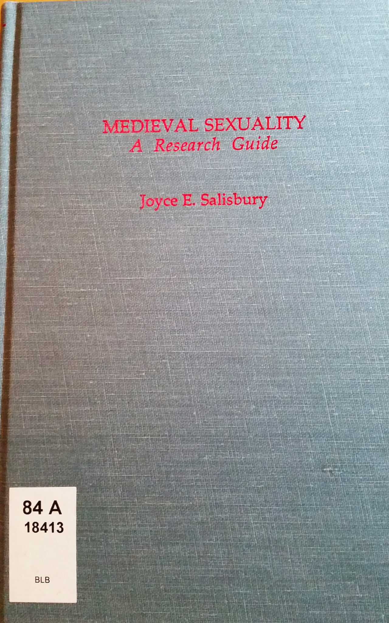 Neues Recherchematerial: Medieval Sexuality