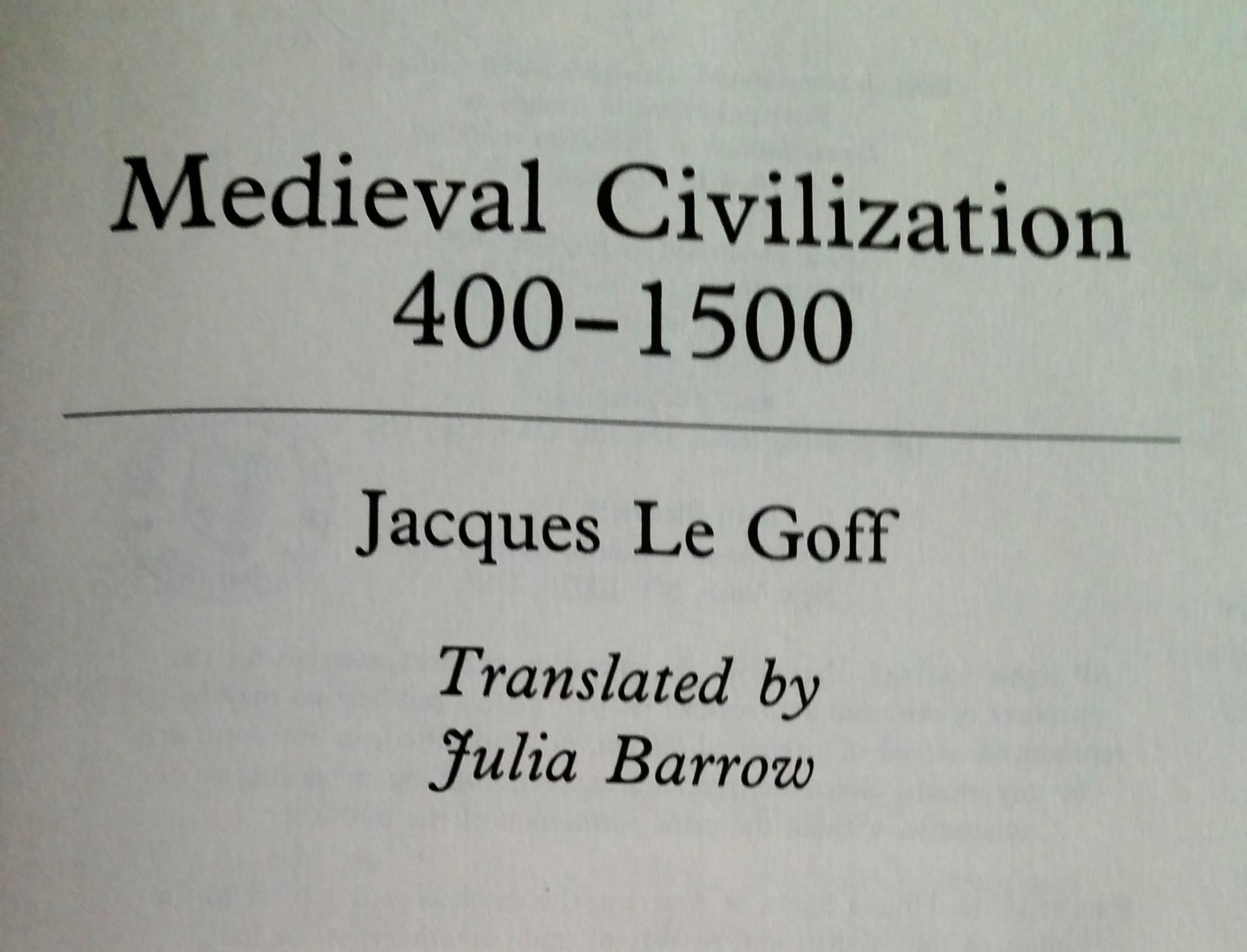 Neues Recherchematerial: Medieval Civilization 400-1500